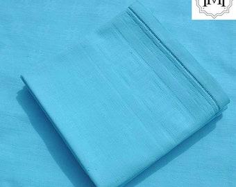 3 old towels blue celeste