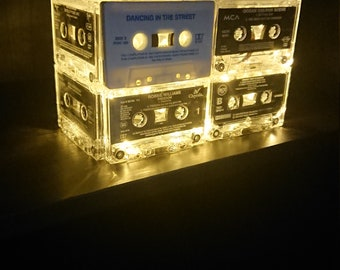 Retro cassette tape lamp