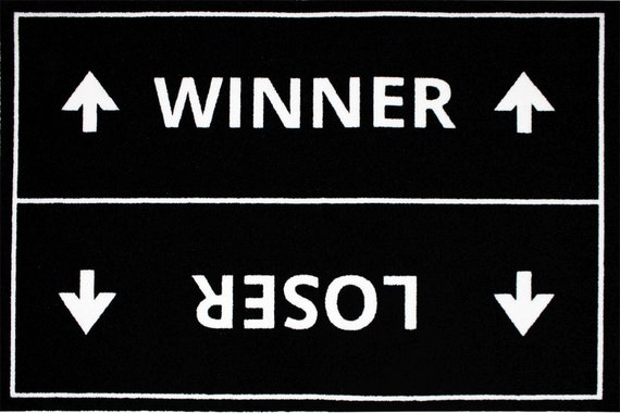 Doormat No Because nein-funny footabenter-60 x 40 cm-blackwhite