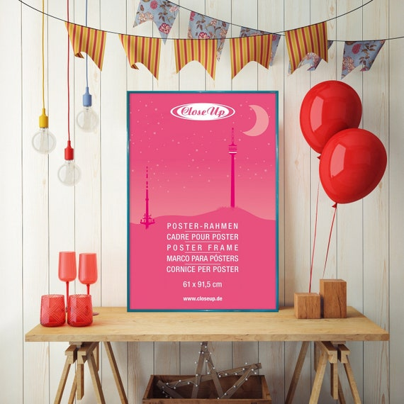 Maxi-Poster Pink Flamingo am Strand Größe 61 x 91,5 cm