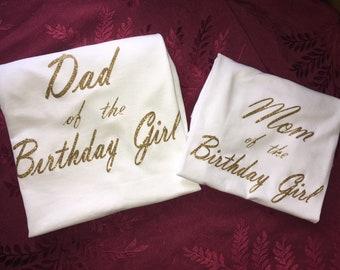 Matching Parent Birthday Shirt