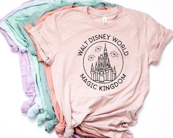 4c1955456 Disney Shirts | Magic Kingdom Shirt | Disney Shirt Women | Trendy Unisex  Disney- Womens Shirt- Unisex - Walt Disney World shirt - tops