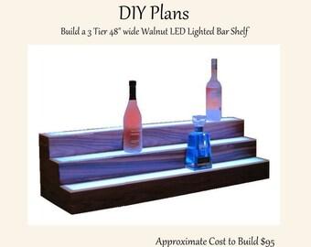 Led bar shelf | Etsy