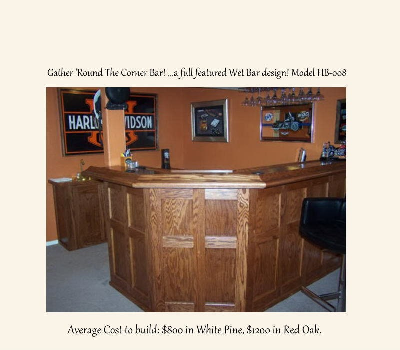 L Shaped Counter Style Wet Bar Plans with 45 Degree corner and   Etsy