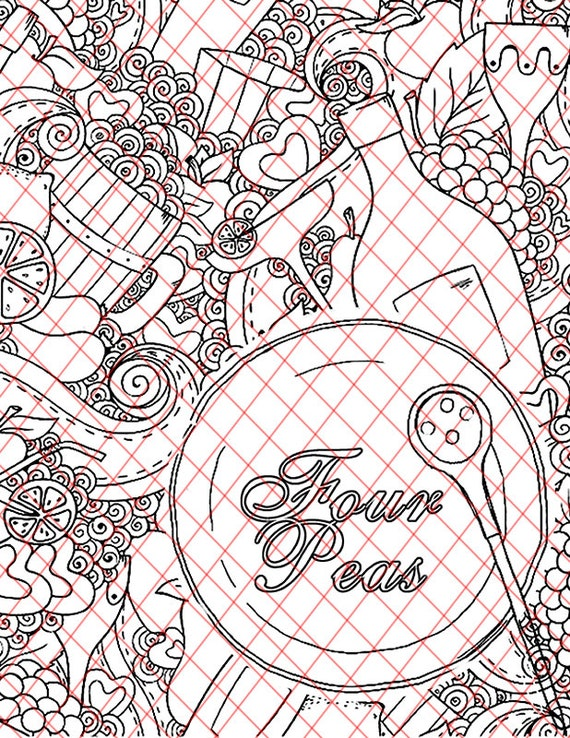 Adult Coloring Book Pages Four Peas Secretary Inspired Kinky Bdsm Naughty Words