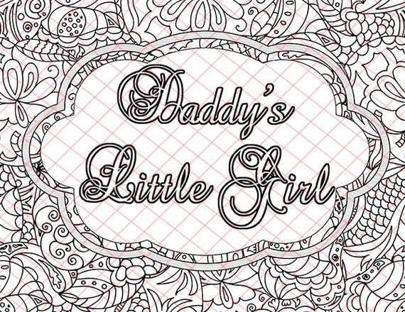 Daddy S Little Girl Kinky Bdsm Naughty Words Adult Coloring Book Pages