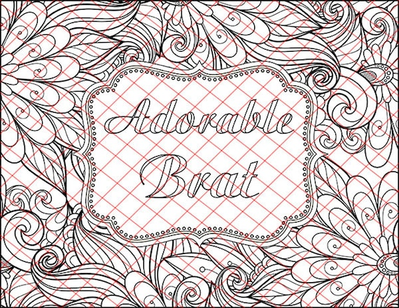 Adult Coloring Book Pages Adorable Brat Kinky Bdsm Naughty Words