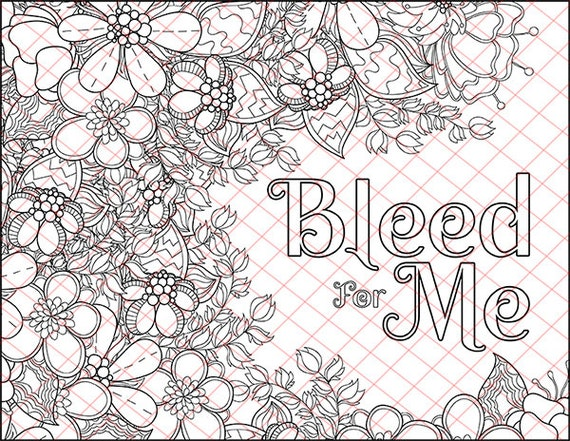 Bleed For Me Kinky BDSM Naughty Words Adult Coloring Book ...