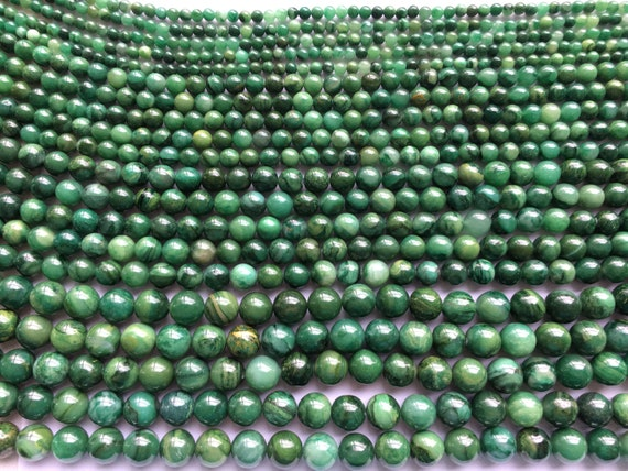 Grade A African Jade Natural Round Good quality Bead 4//6//8//10mm 15/'/'L