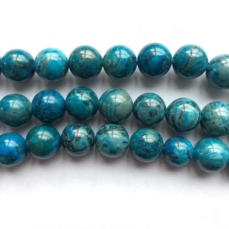 Blue Picasso Jasper Round Natural Gemstone Bead 46810mm 15/'/'L