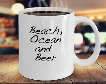 beach ocean beer