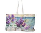 Weekender Bag Lilacs By The Sea