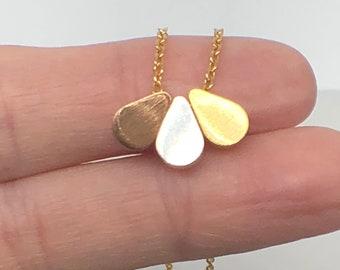 3 Tones Tiny Drops Necklace
