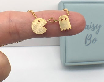 Pac Man Necklace 18K Gold Plated