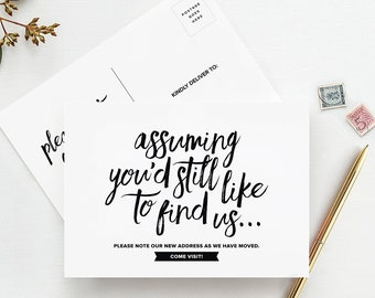 Funny Moving Announcement Postcards, Just Moved Post Cards, We've Moved, Change of Address Cards, Pack of 50 — from Bliss Paper Boutique