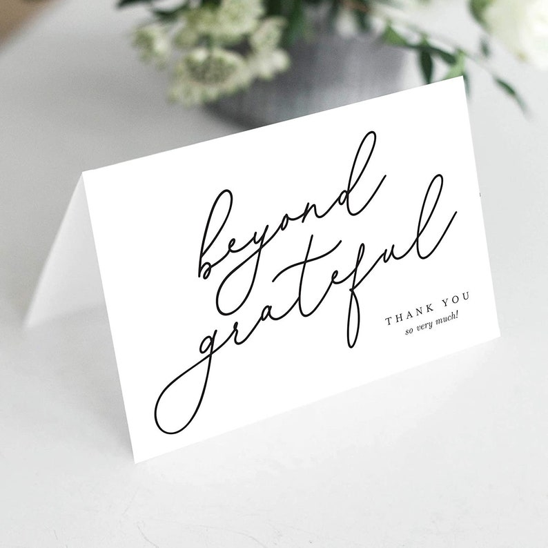 Beyond Grateful Thank You Cards with Envelopes Pack of 25 image 0