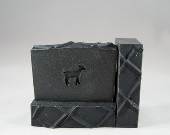 The Stoddard - Goat Milk Soap, Activated Charcoal, Rosemary, Cederwood, Fir Needle Essential Oils