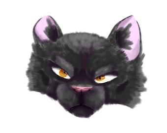 Digital cat art / Warrior cat / Breezepelt