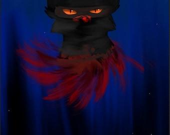 Digital cat art/ Warrior cat / A bloody Tigerstar