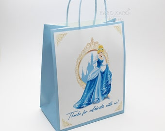 Cinderella Gable Box Disney Inspired Glass Slipper Treat Bag Box Idea Princess Party Instant Download Printable Gift Box Party Favors