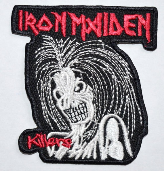 Iron Maiden C//O Iron On Sew On Patch Embroidered Punk Rock