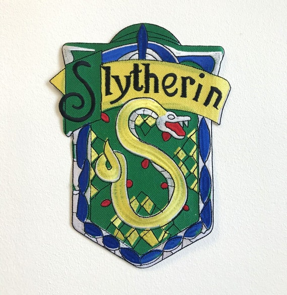 Harry Potter Slytherin Iron On Patch Green
