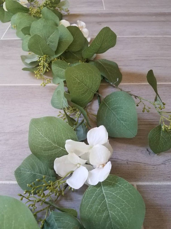 5 Feet Seeded Eucalyptus Garland Eucalyptus Leaves Runner Table Garland Greenery