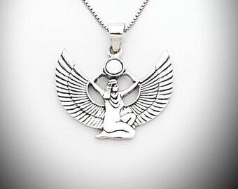 Handmade Goddess Isis Tibetan Silver Necklace Choker