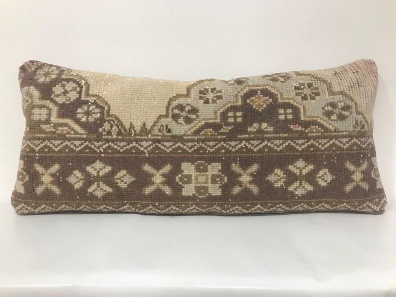 Faded Carpet Pillow Vintage Pillow Lumbar Pillow Cover Decorative Pillow 16\u201d X 38\u201d Inches Muted Pillow Cover