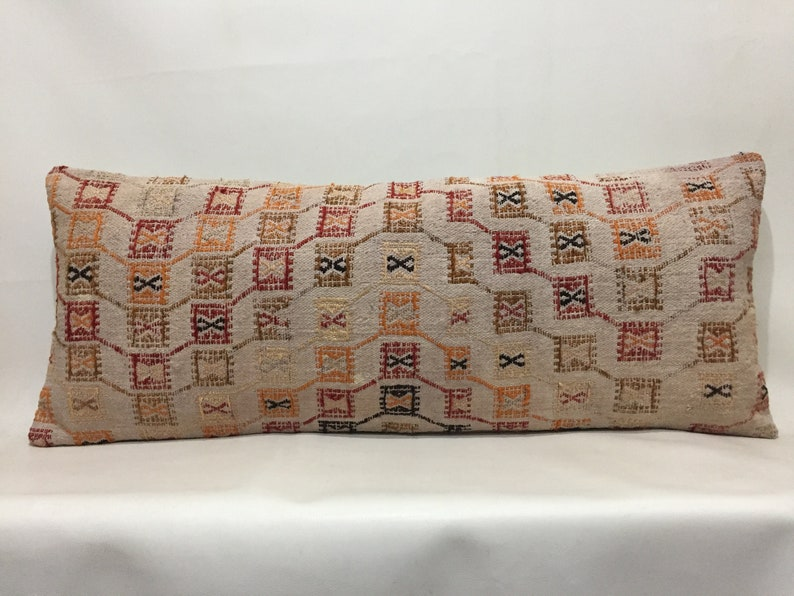Kilim pillow cover Interior Kilim pillow Home decor Sale pillow Oriental cushion Kilim pillow Lumbar pillow 16/'/'x40/'/' Pillow cover