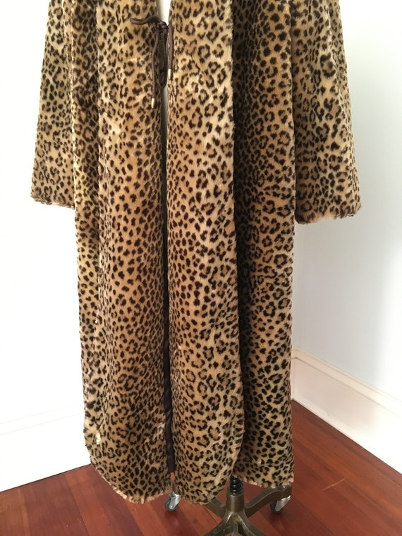 70's 80's Faux Fur FULL LENGHT Teddy Coat By J. P… - image 3
