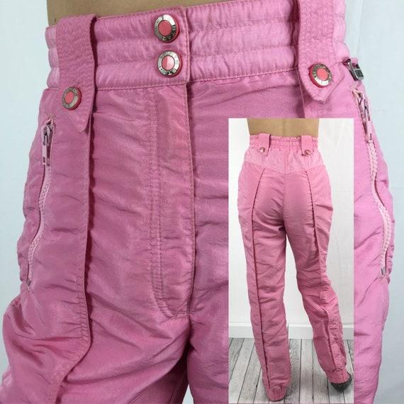 80s VTG Bubblegum Pink Women's Shirred Waist Ski P