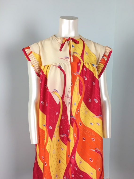 60's 70's Shift Dress Vintage Abstract Psychedeli… - image 8