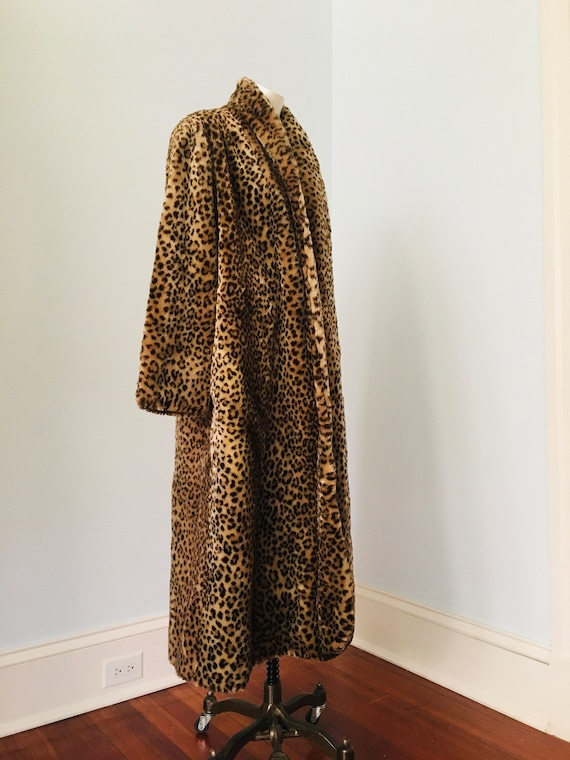 70's 80's Faux Fur FULL LENGHT Teddy Coat By J. P… - image 9