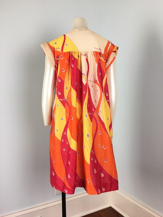 60's 70's Shift Dress Vintage Abstract Psychedeli… - image 7