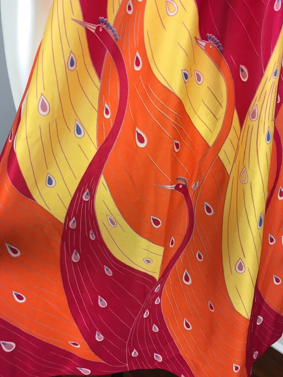 60's 70's Shift Dress Vintage Abstract Psychedeli… - image 4