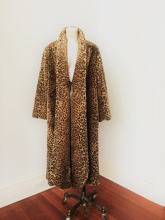 70's 80's Faux Fur FULL LENGHT Teddy Coat By J. P… - image 2