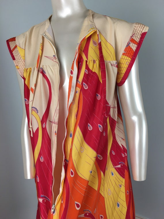 60's 70's Shift Dress Vintage Abstract Psychedeli… - image 6