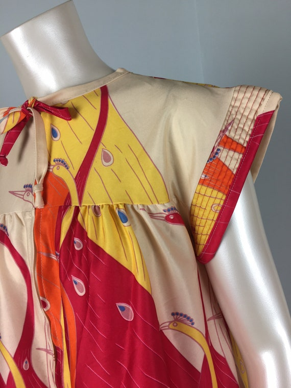 60's 70's Shift Dress Vintage Abstract Psychedeli… - image 5