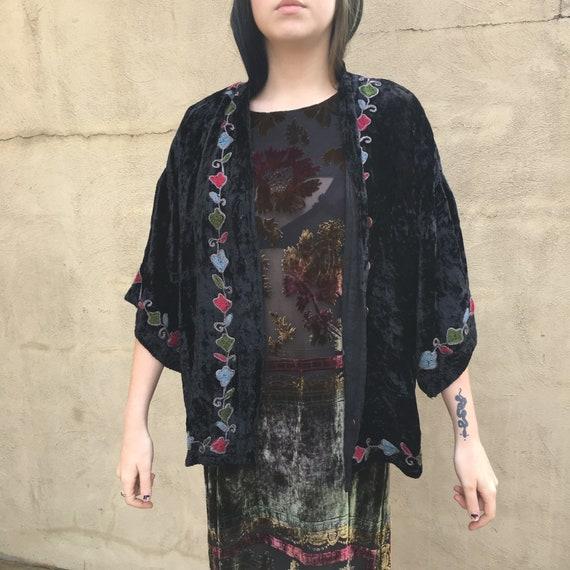 Sacred Threads Vintage Embroidered Crushed Velvet