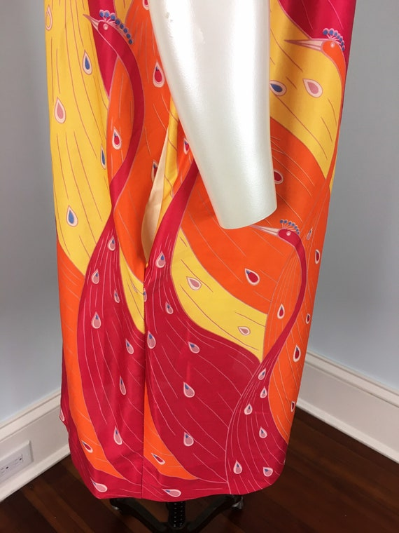 60's 70's Shift Dress Vintage Abstract Psychedeli… - image 3