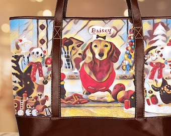 Tote Bags,Many Faces of Dogs,Lined Tote,Weekender Bag,School Bag,Beach Bag,Dog Mom,Gift,for Mom,for Her,Book Bag,Totes,Bag,Sizes,Personalize