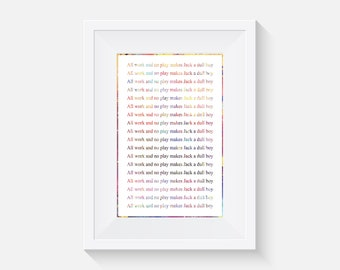 b824a244120 The Shining Typography print