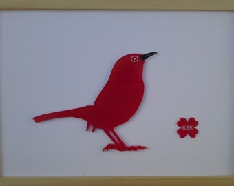 Robin red perspex