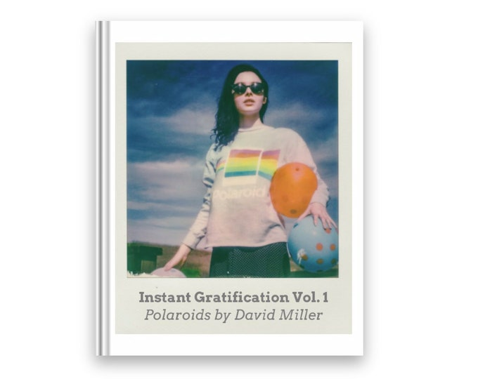 Featured listing image: Instant Gratification Vol. 1 book of art model Polaroids with 1 original Polaroid included