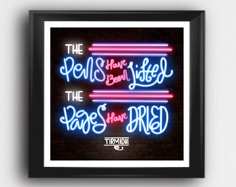 "Printable ""The pens have been lifted. The pages have dried"" Hadith lettering 8x8"" or 10x10"""