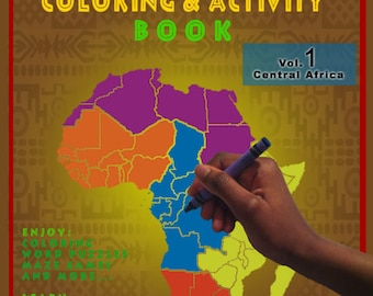 Educational African Coloring & Activity Book, Vol.1 Central Africa