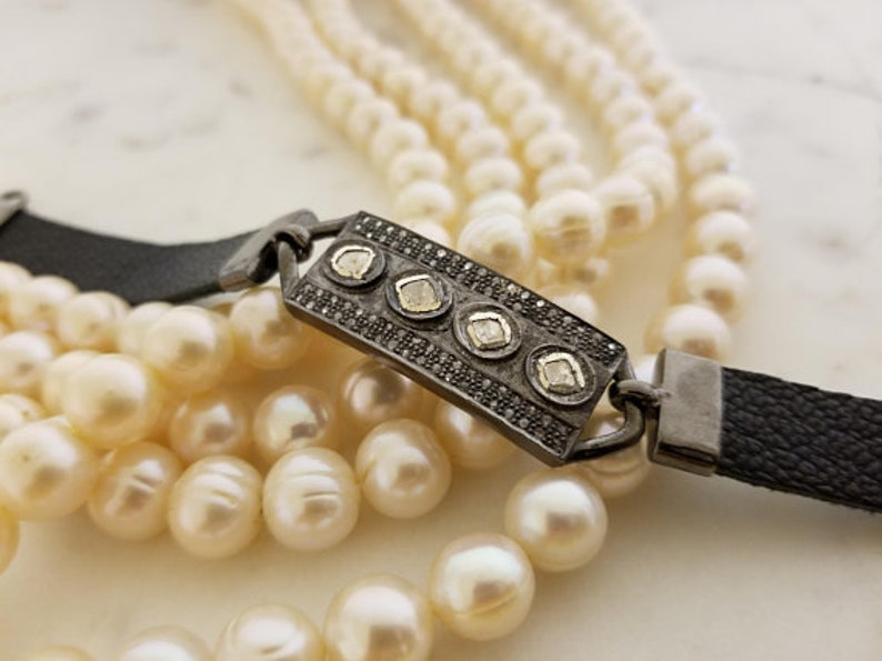 Leather Bracelets Musicians /& Celebrity Designer  Rosecut Diamond Bracelets,Mens Bracelets Unisex Bracelets,Pave Diamond Bracelets.