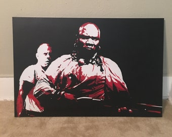 "24""x36"" original Pulp Fiction painting on canvas"