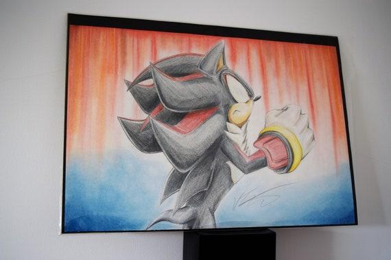 Original Fan Artwork Shadow The Hedgehog Fan Art Sonic Etsy